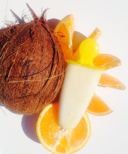 kokosglass med apelsin